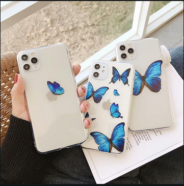 Beautiful Blue Butterflies On Iphone Cases