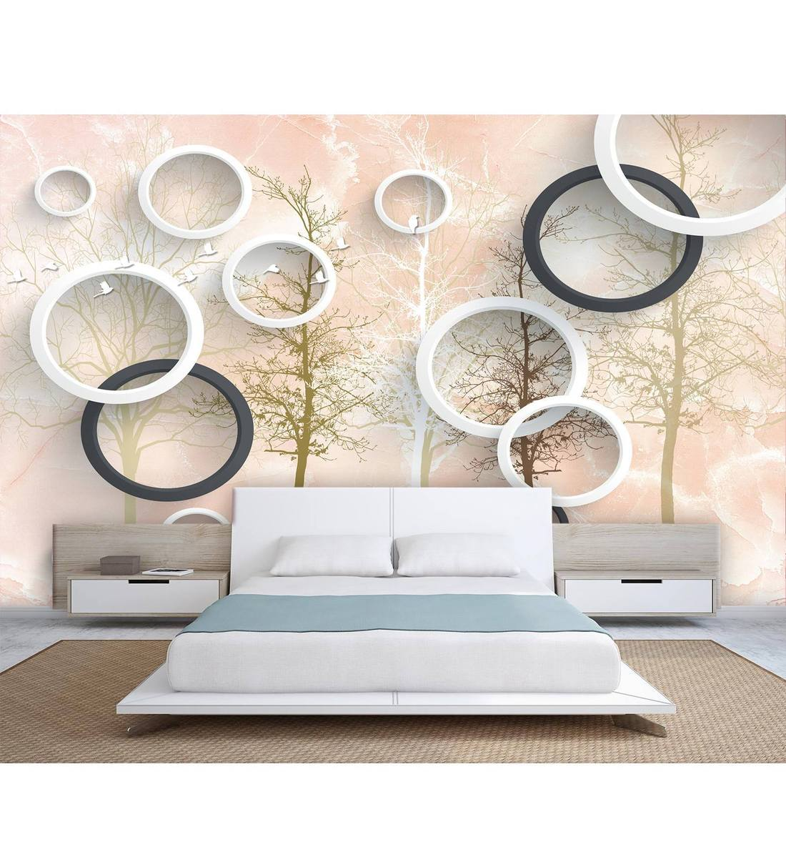 The forest wallpaper (bosbehang) allows you to appreciate an image with the quality of a professional painter